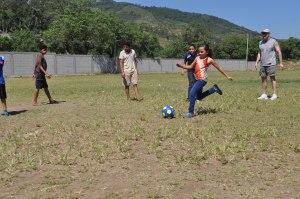 Cristi's kick on goal